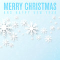 Christmas card with snowflakes and place for your text Royalty Free Stock Images