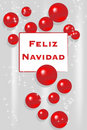 Christmas Card - Spanish Stock Image