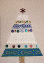 A Christmas card tree made with your own hands Royalty Free Stock Photo