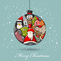 Christmas card vector abstract creative xmas ball Stock Image