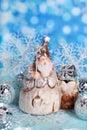 Christmas Card With Vintage Sa...