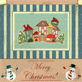 Christmas card in vintage style Royalty Free Stock Photography