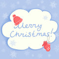 Christmas card with winter accessories vector illustration Royalty Free Stock Photos