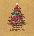Christmas Card Word Cloud Tree...