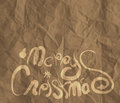 Christmas card wrinkled recycle paper background as vintage style concept Royalty Free Stock Photo