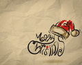 Christmas Card  wrinkled recycle paper background Royalty Free Stock Photo
