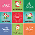 Christmas cards set of lovely Stock Images
