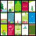 Christmas cards templates Stock Photo