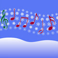 Christmas Carol Music Snow Royalty Free Stock Photo