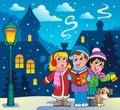 Christmas carol singers theme 3