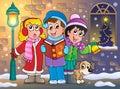 Christmas carol singers theme 5 Royalty Free Stock Photo