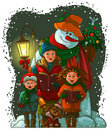 Christmas carolers Royalty Free Stock Photography