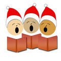 Christmas carolers illustration Royalty Free Stock Photography