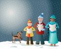 Christmas carols Stock Image