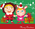 Christmas carols Royalty Free Stock Images