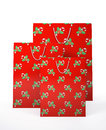 Christmas carrier paper bags Royalty Free Stock Photo