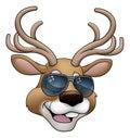 Christmas Cartoon Reindeer Character Royalty Free Stock Photo