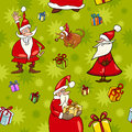 Christmas cartoon seamless pattern design illustration of santa claus and characters and themes for wrapper or paper pack Royalty Free Stock Image