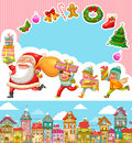 Christmas cartoons set of and design elements Royalty Free Stock Image