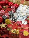Christmas casino background Stock Images