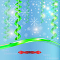 Christmas celebration emergence the invitation sexual snow white the star shine richly the coupon Royalty Free Stock Images