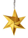 Christmas celebration golden star Stock Photo