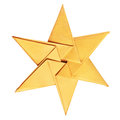 Christmas celebration golden star on a white background Stock Photography