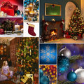 Christmas Celebrations Montage Royalty Free Stock Photo