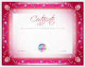Christmas certificate template with border xmas happy new year as elements in vector Stock Photos