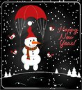 Christmas chalkboard decoration with snowman