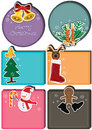 Christmas Character Card Set_eps Stock Images