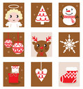 Christmas characters & accessories Royalty Free Stock Photography