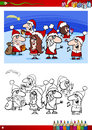 Christmas characters for coloring book Royalty Free Stock Photo