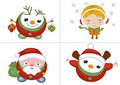 Christmas characters set Stock Photo