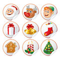 Christmas Characters and Symbols Stock Photo