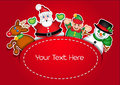 Christmas Characters template card Stock Photo