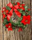 Christmas chickadee Stock Photos