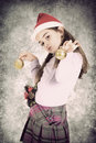 Christmas child a little girl celebrating has arrived Royalty Free Stock Photo