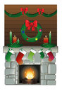 Christmas chimney Stock Image