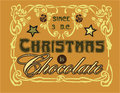 Christmas is chocolate funny and conceptual vector illustration Stock Image