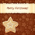 Christmas chocolate honey-cakes greetings card Stock Photos