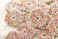 Christmas chocolate sprinkle colorful background Royalty Free Stock Image