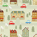 Christmas city pattern Stock Photo