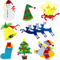 Christmas Clipart Collection Stock Image