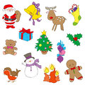 Christmas clipart hand drawn pictures of illustrated in a loose style vector eps available Royalty Free Stock Photography