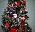 Christmas clown face tree Στοκ φωτογραφία με δικαίωμα ελεύθερης χρήσης