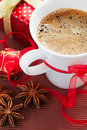 Christmas coffee Stock Image