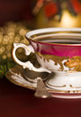 Christmas coffee in the china cup Royalty Free Stock Photos