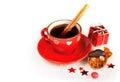 Christmas coffee with cinnamon sticks Royalty Free Stock Photo