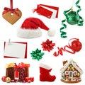 Christmas collection Stock Photos